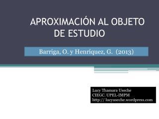 APROXIMACIÓN AL OBJETO DE ESTUDIO