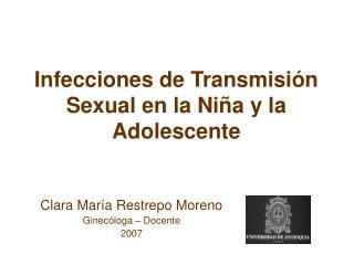 Infecciones de Transmisi n Sexual en la Ni a y la Adolescente