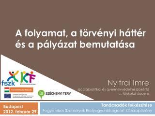 Nyitrai Imre szociálpolitikai és gyermekvédelmi szakértő c. főiskolai docens