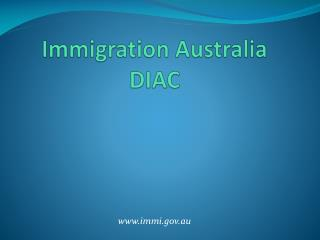 Immigration Australia DIAC