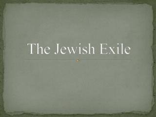 The Jewish Exile