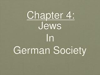 Jews In German Society
