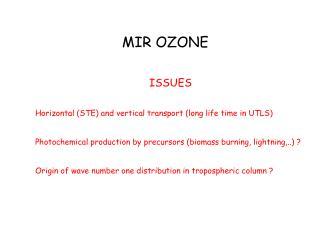 MIR OZONE