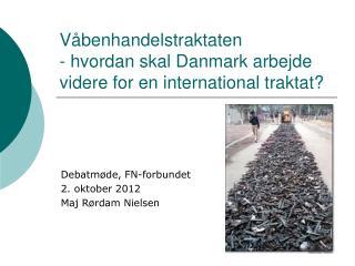 Våbenhandelstraktaten  - hvordan skal Danmark arbejde videre for en international traktat?