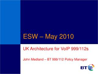 ESW   May 2010