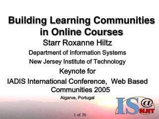 Building Learning Communities