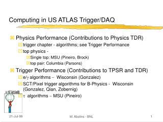 Computing in US ATLAS Trigger/DAQ