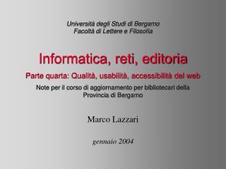 Università degli Studi di Bergamo Facoltà di Lettere e Filosofia