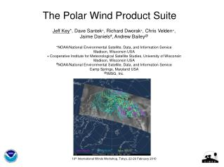 The Polar Wind Product Suite