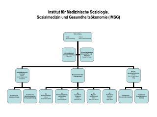 Institut für Medizinische Soziologie,  Sozialmedizin und Gesundheitsökonomie (IMSG)