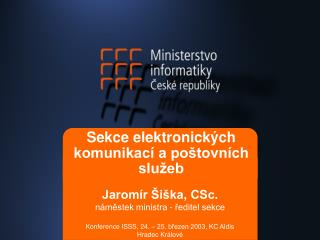 Sekce elektronických komunikací a poštovních služeb