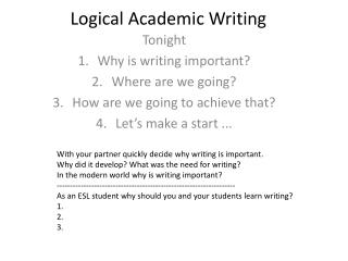 Logical Academic Writing
