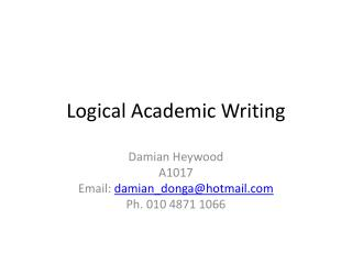 Logical Academic Writing