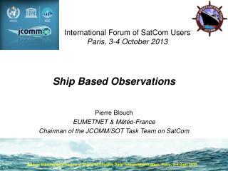 Ship Based Observations