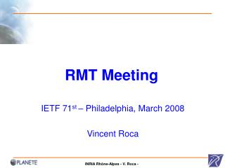 RMT Meeting