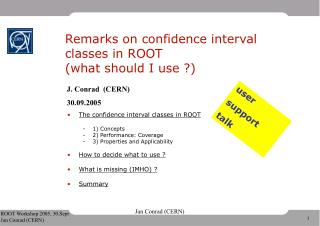 Remarks on confidence interval classes in ROOT (what should I use ?)