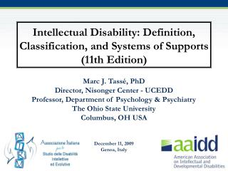 Intellectual Disability: Definition, Classification, and Systems of Supports (11th Edition)