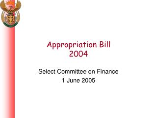 Appropriation Bill 2004