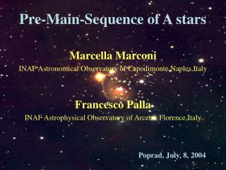 Pre-Main-Sequence of A stars