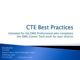 CTE Best Practices