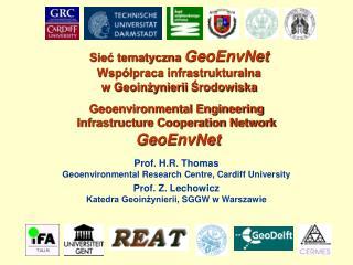 Geoenvironmental Engineering  Infrastructure Cooperation Network  GeoEnvNet
