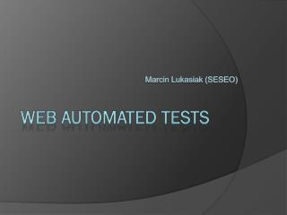 web automated tests