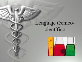 Lenguaje t écnico-científico
