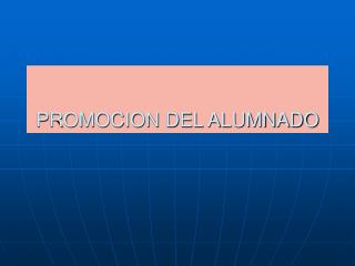 PROMOCION DEL ALUMNADO