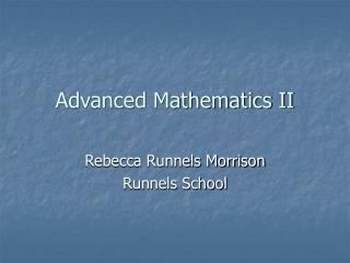 Advanced Mathematics II