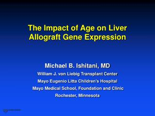 The Impact of Age on Liver Allograft Gene Expression