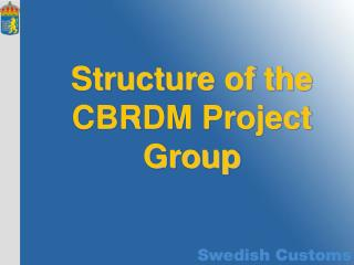 Structure of the CBRDM Project Group