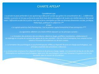 CHARTE APESA