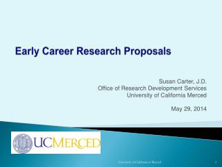 Early Career Research Proposals
