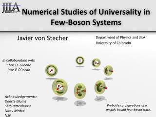 Numerical Studies of Universality in Few-Boson Systems