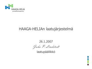 HAAGA-HELIAn laatujärjestelmä