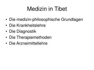 Medizin in Tibet