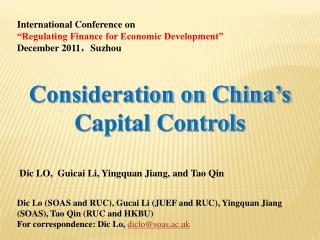 Dic LO,  Guicai Li, Yingquan Jiang, and Tao Qin