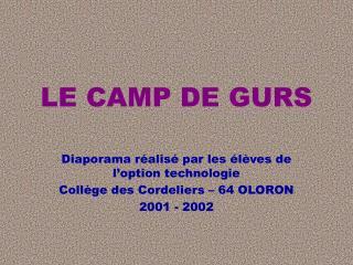 LE CAMP DE GURS