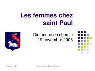 Les femmes chez saint Paul
