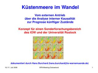 Konzept für einen Sonderforschungsbereich  des IOW und der Universität Rostock