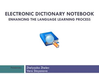 Electronic Dictionary Notebook  Enhancing the Language Learning Process