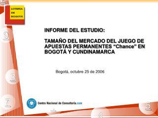 Bogotá, octubre 25 de 2006