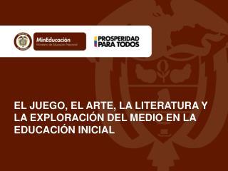 EL JUEGO, EL ARTE, LA LITERATURA Y LA EXPLORACIÓN DEL MEDIO EN LA EDUCACIÓN INICIAL