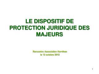 LE DISPOSITIF DE PROTECTION JURIDIQUE DES MAJEURS