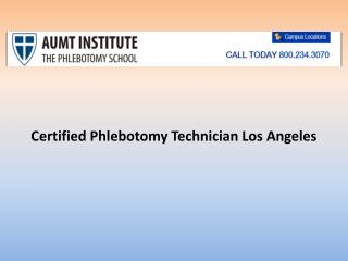 certified phlebotomy technician los angeles
