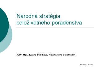 Národná stratégia celoživotného poradenstva