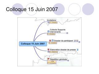 Colloque 15 Juin 2007