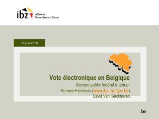 Vote électronique en Belgique