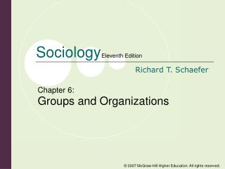 Chapter 6: Groups and Organizations