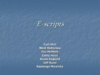 E-scripts